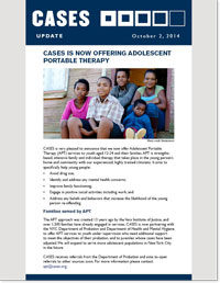 Adolescent Portable Therapy One Pager