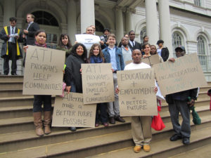 People show their support for ATI programs