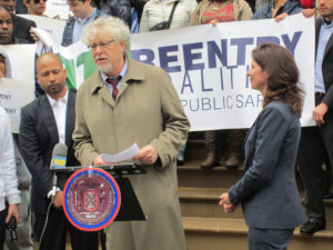 Joel Copperman speaking at an ATI rally